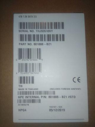 DISCOS HP 4 TB SATA (2 unidades) SERVIDOR PROLIANT