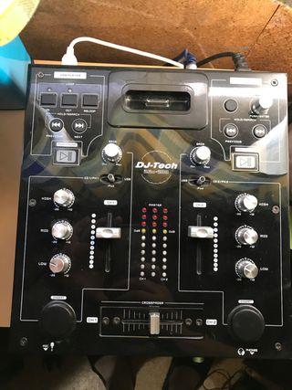 Mesa de Mezclas, reproductor usb Dj-tech imix 200