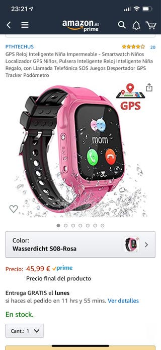 Smartwatch para niños localizador gps
