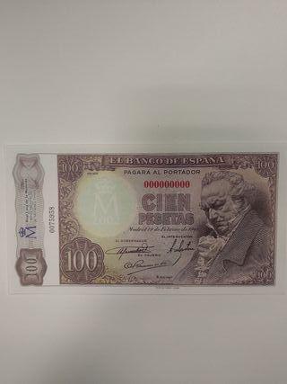 Billete 100 pesetas 1946 Goya (facsímil)