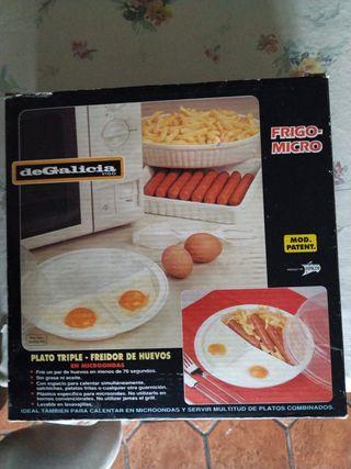 Freidor de Huevos para Microondas, sin aceite