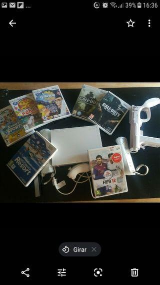 consola Wii con 7 juegos