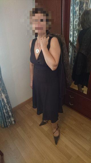 vestido corto marrón