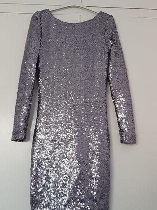 vestido corto de fiesta lentejuelas
