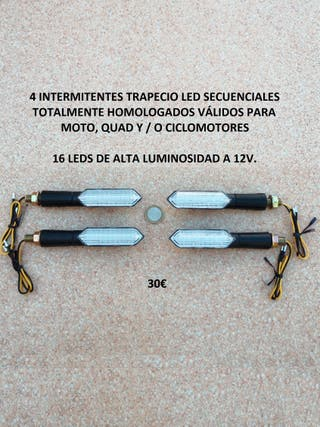 4 Intermitentes led trapecio dinamicos homologados