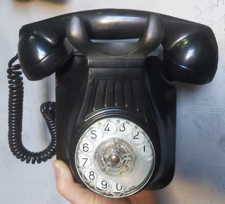 teléfono vintage antiguo de baquelita