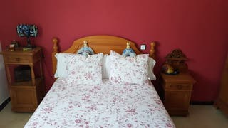 Dormitorio pino rústico
