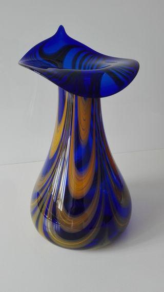 Jarrón muestrario cristal