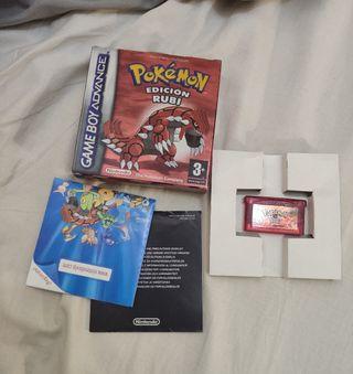 pokemon Rubi game boy advance juego gameboy