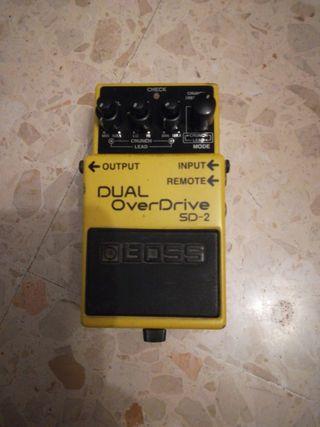 Boss Dual Overdrive SD-2 Pedal Guitarra