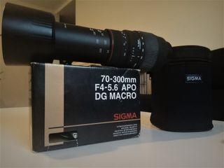 Objetivo Canon-Sigma 70-300mm F4-5.6 Apo Dg Macro