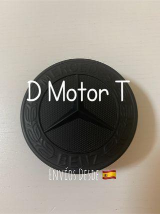 Emblema Mercedes negro mate capo