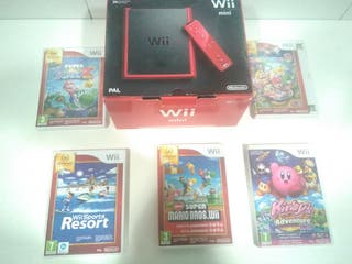 Wii mini con 5 juegos