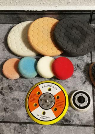 pack de siete pads para pulidora