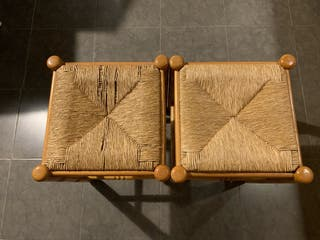 2Banquetas de madera