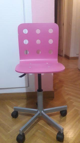 Silla infantil de escritorio ikea jules rosa