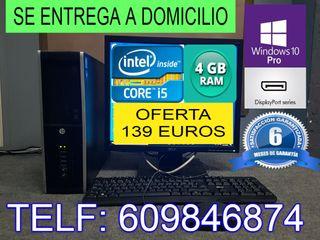 ORDENADOR INTEL CORE i5 CON 4 GB RAM CON GARANTIA