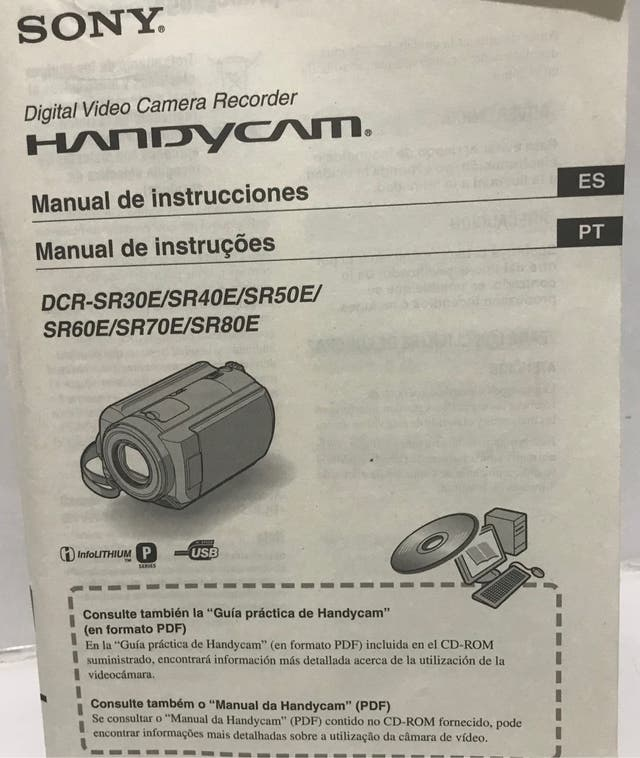 Cámara vídeo SONY Handycam DCR-SR30
