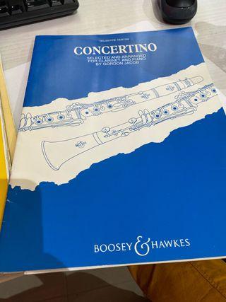 Concertino giuseppe tartini para clarinete y piano