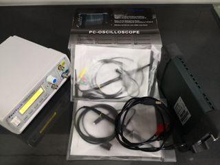 Osciloscopio para pc+generador de funciones.