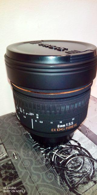 Objetivo Sigma 8mm EX Nikon