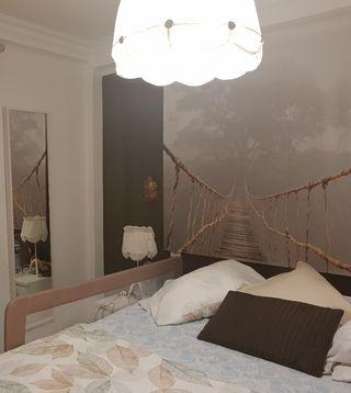 lampara de techo y 2 lamparillas