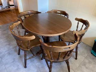 Lote de mesas y sillas de haya ! Muy buenas