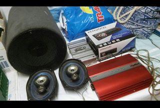 subwofer coche equipo audio