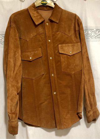 Camisa ante marrón