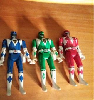 Lote de 3 Power Rangers