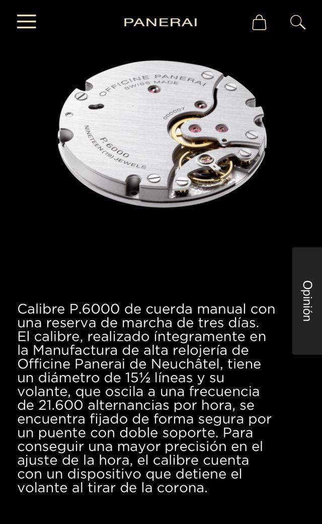 Panerai Luminor movimiento P6000 in-house 44mm