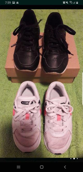 lote zapatillas talla 27 nike grises poco uso y k