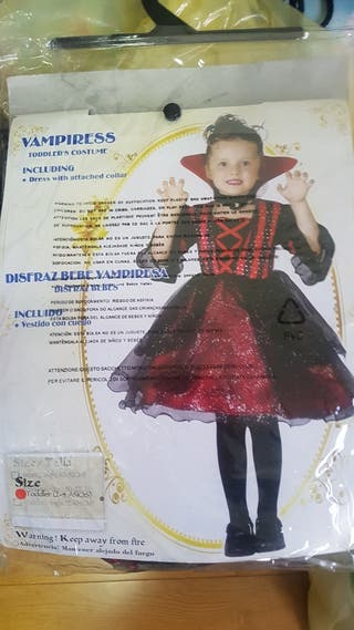 Disfraz Vampira talla 2/4 años Haloween