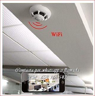detector humo WI-FI grabador videocamara