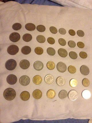 Monedas españolas 112 piezas