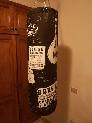 kit saco de boxeo