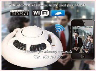 detector humo WI-FI videocamara espia