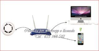detector humo WI-FI vigilancia vigilancia