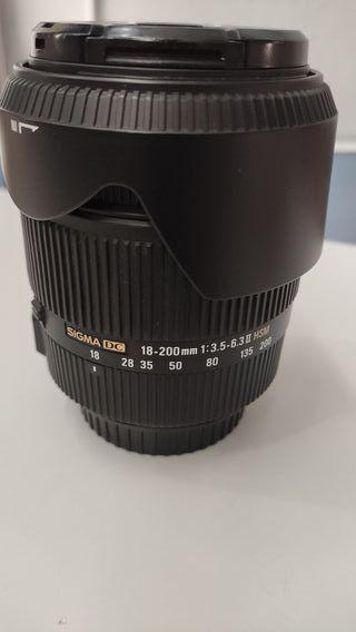 Sigma DC 18-200mm 1:3.5-6.3 II HSM montura Canon