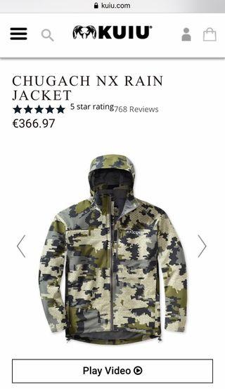 Kit chugach rain chaqueta + pantalón kuiu