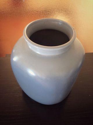 Rebaja! Jarrón cerámica azul gris