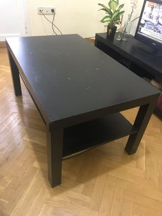 Mesa de centro negra Lack Ikea