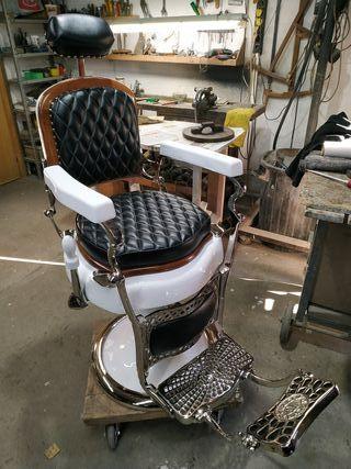 Sillón de Barbero antiguo Jaso N°2 Restaurado