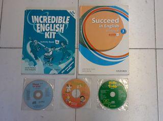 2 Libros texto inglés y 3 CD canciones