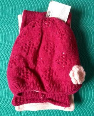 gorra y bufanda bebé 6/12 meses nuevo