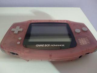 Nintendo Game boy advance fucsia transparente