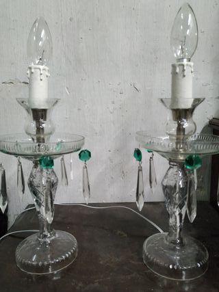 lamparas antiguas de mesita de noche