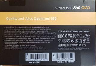 Disco duro A ESTRENAR 2TB Samsung 860 EVO Basic