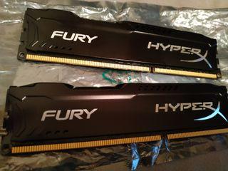 16 GB HyperX Fury Memoria RAM nueva sin usar.
