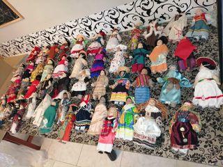 muñecas articuladas porcelana trajes regionales